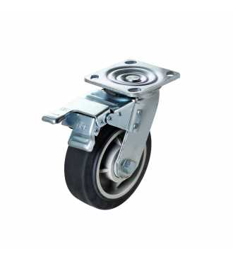 6'' Plate Swivel Caster With Brake