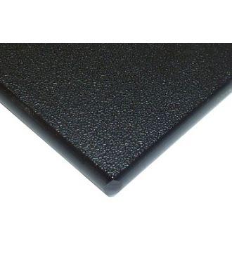 Black HDPE plastic 1/4''