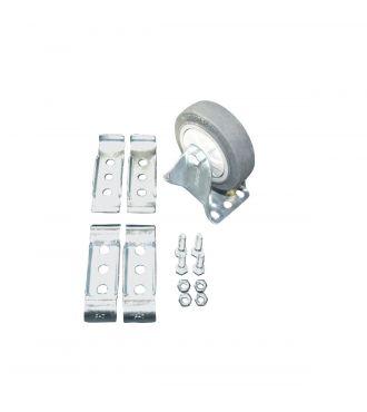 4'' Plate Rigid Caster Kit