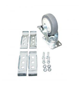 4'' Plate Swivel Caster With Brake Kit