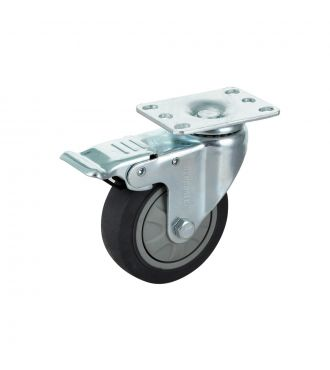 4'' Plate Swivel Caster With Brake